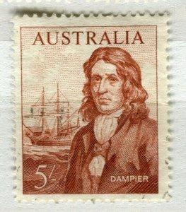 AUSTRALIA; 1963-65 early Navigators issue fine Mint hinged 5s. value