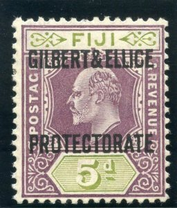 Gilbert & Ellice Is 1911 KEVII 5d purple & olive-green MLH. SG 5. Sc 5.