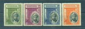 Zanzibar sc# 214-217 (2) mh cat value $49.75