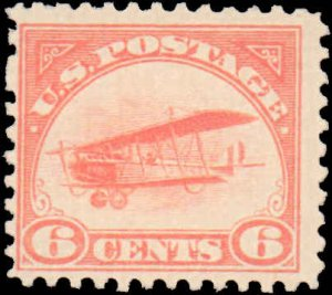 United States #C1, Incomplete Set, 1918, Airplanes, Hinged