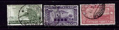 Italy 178-80 Used 1926 partial set