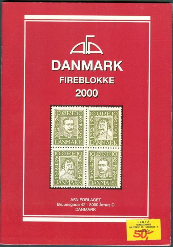 DANMARK FIREBLOKKE 2000 Denmark Blocks