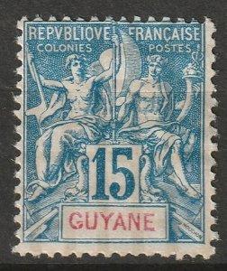 French Guiana 1892 Sc 39 MNG