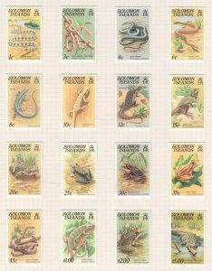 SOLOMON ISLANDS, 1979-1982 Reptiles & Amphibians set of 16, mnh.