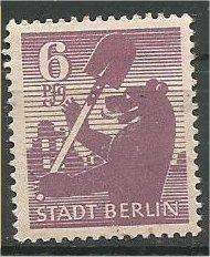 BERLIN, 1945, MH 6pf Berlin Bear Scott 11N2