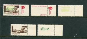 1950 France Christmas Seals Greens #33 Plus PCP (Proof Set) MNH