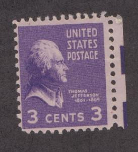 807 Thomas Jefferson F-VF MNH single
