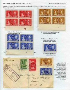 Bechuanaland 1937 Coronation Page
