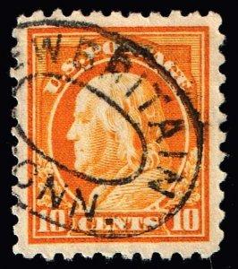 US STAMP #433  Series of 1914-15 10¢ Franklin USED STAMP XFS SUPERB
