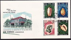NEW HEBRIDES 1972 Shells FDC...............................................68413