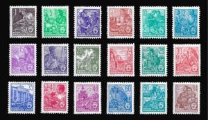 Germany DDR 1953-54 Sc 187-204 MVLH 5 year plan (Typo set)