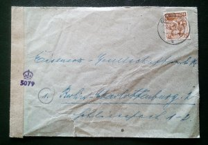 Germany Allied Occupation Letter
