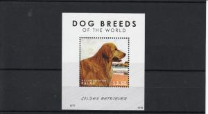Palau 2012 MNH Dog Breeds of the World 1v Sheet Golden Retriever Dogs