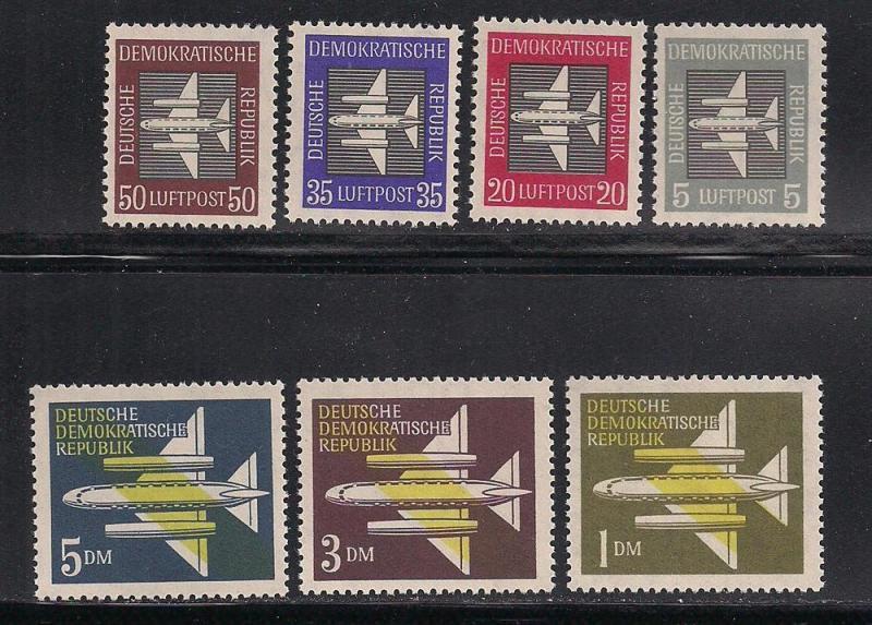 GERMANY - DDR SC# C1-7 F-VF MNH 1957