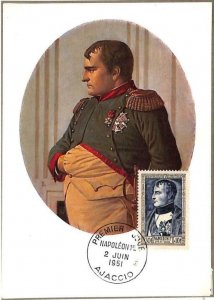 90070 - FRANCE - Postal History - FDC MAXIMUM CARD -  1951  NAPOLEON BONAPARTE