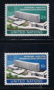 UN NY Sc# 244 245 UN Headquarters Geneva MNH
