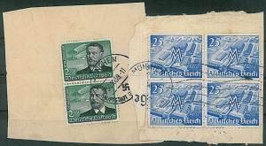 GERMANY - AVIATION - Michel 538 X 2  on cover CUT OUT