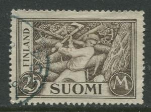 Finland - Scott 179 - Woodchopper -1930- FU - Single 25m Stamp