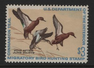 US, RW38, 1971, HINGED, DUCK STAMP