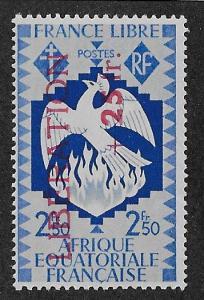 FRENCH EQUATORIAL AFRICA SC# B21  F/MOG  1944