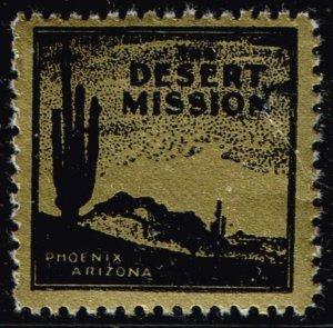 US STAMP Desert Mission TB Charity Seal  Collection MNH/OG STAMP LOT #5