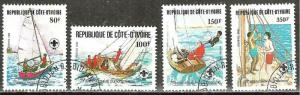 IVORY COAST 1982   SCOUTING   Sailing Skills  Stamp Set WYSIWYG Lot