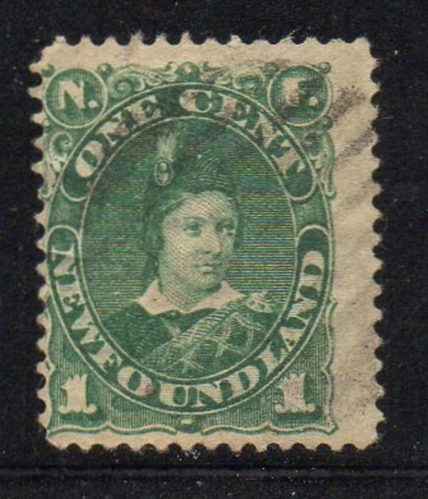 Newfoundland Sc 45 18971 c green Prince of Wales stamp used