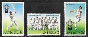 Antigua  (1975)  - Scott # 402 - 404, MNH