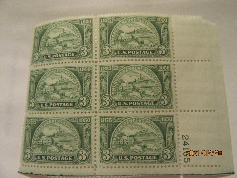 SCOTT 987 3 CENT AMERICAN BANKERS ASSOCIATION 1950 OG