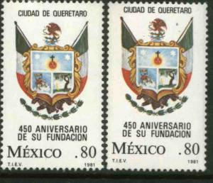MEXICO 1240-1240a, 250th Anniv of the City of Queretaro UNWMKD & WMKD MINT NH VF