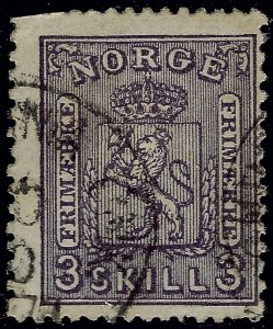 Norway #13 Used Fine trimmed SCV$150...Chance to buy a Bargain!