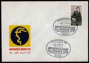Germany – 1979 Hannover Messe '79 Event Cover with Sc#1287