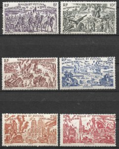 Doyle's_Stamps: French Wallis & Futuna Islands Chad to Rhine Set C2** to C7**