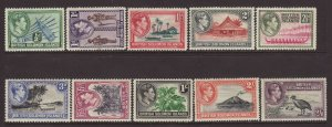 1939 Br Solomon Is 10 Values to 2/6 Mounted Mint
