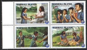 Marshall islands. 1986. 101-4. Scouts children. MNH.