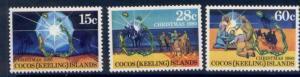 Cocos Islands 53-5 MNH Christmas, map