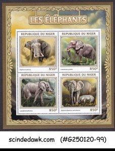 NIGER - 2016 ELEPHANTS / WILD ANIMALS - MIN/SHT MINT NH
