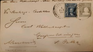 O) 1909 CHILE, AMBULANCIA, PITRUFOR AND CHILLAM, COLUMBUS SCT 71 5c ultra, CI