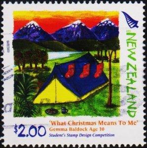 New Zealand. Date? $2 Fine Used