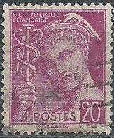 France 359 (used) 20c Mercury, red vio (1938)