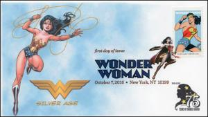 2016, Wonder Woman, Silver Age, Digital Color Postmark, NY NY, 16-281