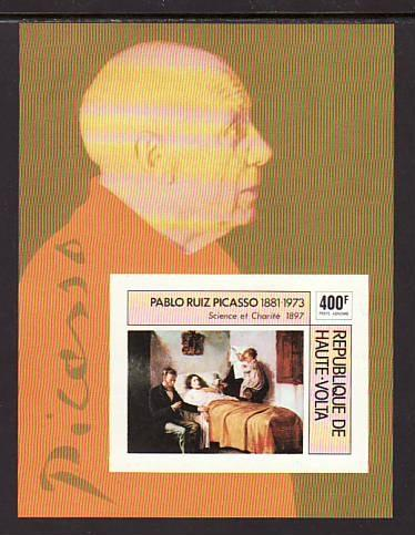 Burkina Faso Picasso Painting C222 Imperf MNH VF