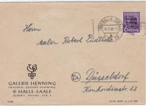 Germany Soviet Zone 1948 Halle to Dusseldorf stamps cover  R20724