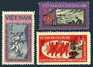 Viet Nam 347-349,MNH.Michel 366-368. Trade Union Conference,1965.Naval Battle.