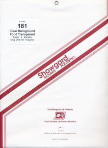 Showgard Stamp Mount 181/264 CLEAR Background Pack of 5