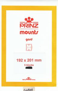 PRINZ CLEAR MOUNTS 192X201 (5) RETAIL PRICE $10.50
