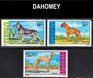 Dahomey Scott 321-23 complete set F to VF mint OG NH.