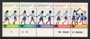 Christmas Island 1979 Sc#89 International Year of the Child (ICY) Strip of 5 MNH