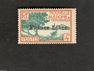 1941 New Caledonia SC #220  Nouvelle Caledonie et Dependances MH Overprint stamp