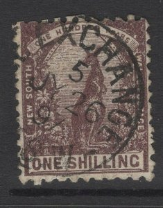 NEW SOUTH WALES SG258c 1889 1/= VIOLET-BROWN p11x12 USED